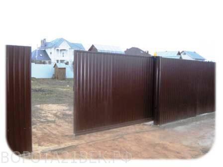 Распашные ворота с автоматическим приводом